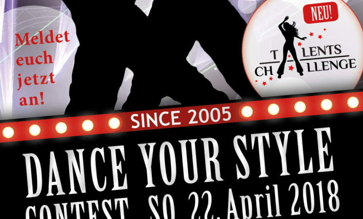 Dance Your Style Contest am 22.04.18 in der Max-Reger-Halle in Weiden