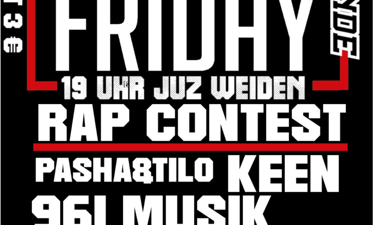 RAP FRIDAY am 12.07.19 im JuZ!